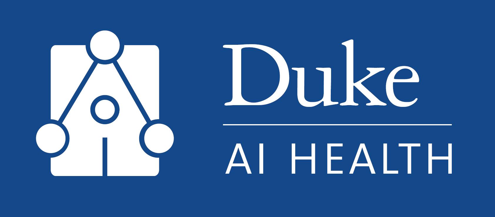 Banner showing Duke AI Health Logo and Wordmark