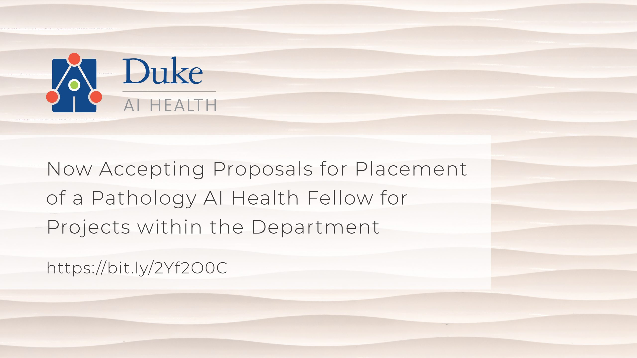 Duke AI Health Fellowship Option 1